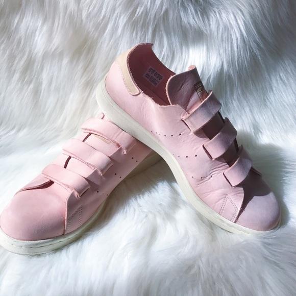 Zapatillas adidas Stan Smith rosa velcro zapatillas poshmark discontinued
